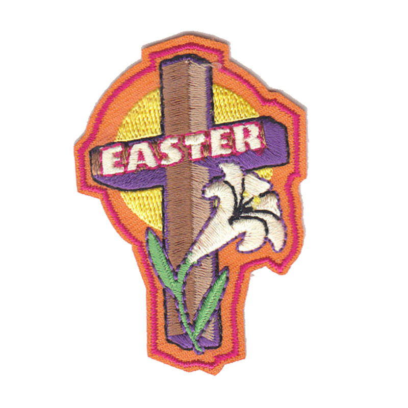 Easter Wcross Lilyiron On Embroidered Patch