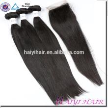 4*4 Malaysian Virgin Hair Straight Lace Closure Piece
