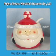 Atacado pote de tempero cerâmico com design de Papai Noel