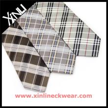 Corbatas de seda del cuello a cuadros de negocios para hombre
