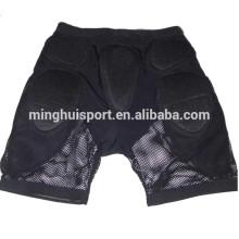 camisas do impacto do equipamento do rugby e short para calças de proteção do quadril da motocicleta do esqui
