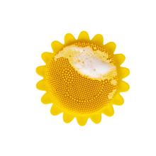 Baby shower head massage brush flower shape baby bath silicone brush