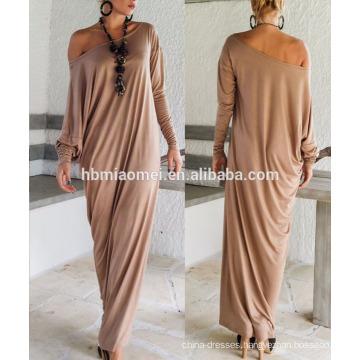 OEM Promotion Office Wear Long Skirt Woman Casual Summer Dress