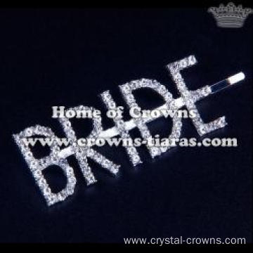 "Crystal Letter ""BRIDE""Hair Clips"
