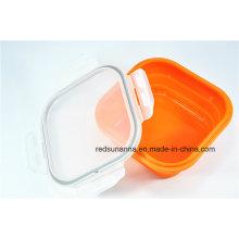 Récipient pour aliments en plastique résistant à la chaleur