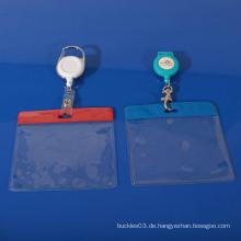 Heißer verkaufender transparenter PVC-Abzeichenhalter