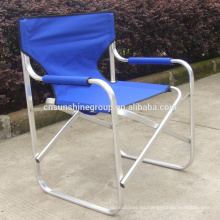 Outdoor folding high chair/Folding aluminum director chair with tea table and magazine bag
