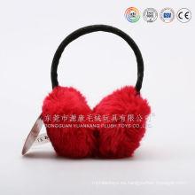 Orejera de felpa para el invierno, orejera cómoda y cálida para el diseño de dibujos animados de protector de oreja