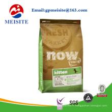 Sac d'emballage en aluminium stratifié en aluminium pour animaux de compagnie avec fermeture à glissière, sac d'emballage pour aliments pour chiens