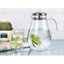 Calor Resistant Glass Pitcher Té Café Pot Hogar Jugo Bebida Botella De Jarro De Agua