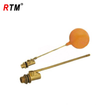 válvula de flotador-bola de cobre amarillo de la venta caliente con la bola plástica