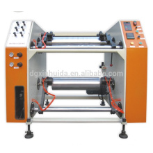 XHD-500 semi-automatic stretch film roll double shafts rewinder machinery Quality Assured