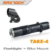 Maxtoch TA6X-4 artículo Cree XML T6 bicicleta tácticas luz LED Antorcha recargable