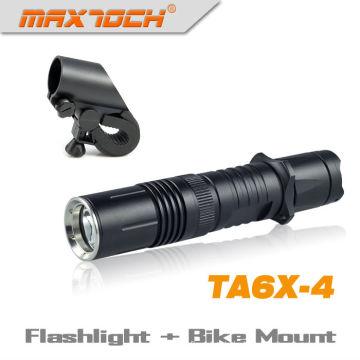 Maxtoch-TA6X-4 langlebige Cree XML-T6 Fahrrad Licht taktische LED wiederaufladbare Taschenlampe