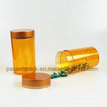 100ml âmbar Pet plástico recipiente de medicamentos para comprimidos (PPC-PETM-004)