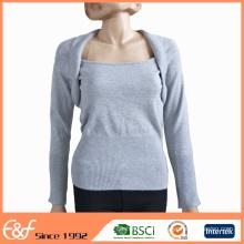 Diseños de suéter de lana de la venta del suéter de las mujeres para las señoras