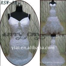 RSW-20 2011 heiße Verkaufs-neue Entwurfs-Dame-moderne elegante besonders angefertigte schöne Spitze-Rüsche A-line Brautkleid