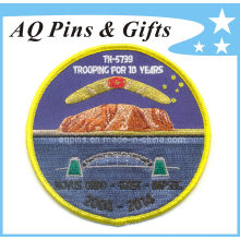 Round Shape Embroidery Patch in 100% Embroidery Area