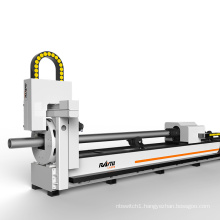 High Precision Cnc Metal Pipe Aluminum Tube Fiber Laser Power Cut Machine 1000W 2000W 3000W 3000*110mm  For Sale