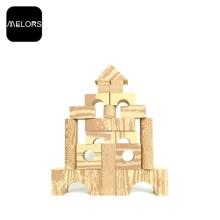 Melors Foam Building Blocks Spielzeug Holzmaserung Block