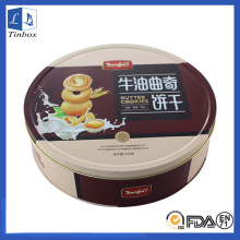 Round Metal Cookie ou Cake Tin Box