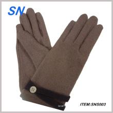 Pretty y barato pantalla táctil guantes de lana de las mujeres (SNS3)