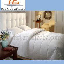 Edredão de pato de luxo de hotel de algodão branco de alta qualidade para baixo
