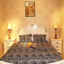 Leoparden bedruckte Polar Fleece Bettwäsche Großhandel