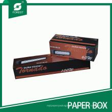 Caja de empaquetado laminada a todo color 3D de la lámpara 3D laminada