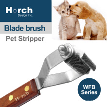Pet Stripping Knives Dog Stripping Comb with Wood Handle New Product