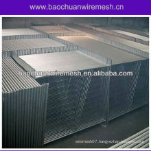 Temporary fence panel in warehouse