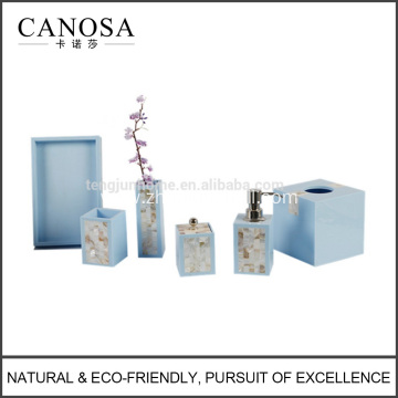 2016 Hot Sale Luxury Shell Lacquer Bathroom Set for Hotel