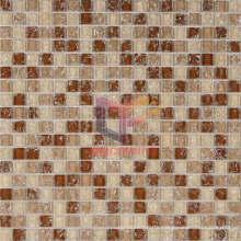 Light Brown Crystal Ice-Cracked Mosaic (CC172)
