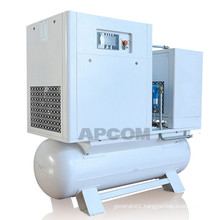 Low Noise APCOM Food Air Compressor Oilless Screw Air Compressor Medical Oil Free Air Compressor 7.5kw 11kw 15kw