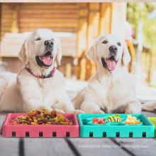Shop wholesale new product hot sale multi-color detachable anti-choking dog licking plate