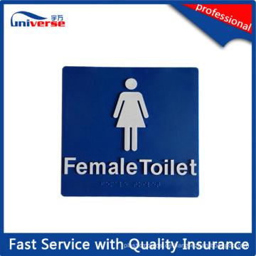 180mm * 180mm weibliche Toilette Braille taktile Zeichen