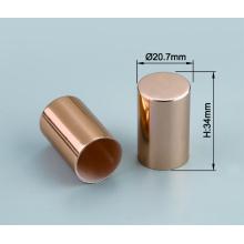 Modifique el casquillo plástico de aluminio brillante de la cubierta del atomizador del perfume para requisitos particulares