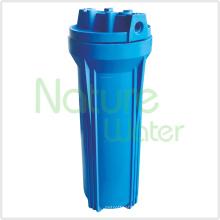"Caixa de filtro de água azul com 1/4 ""porta"