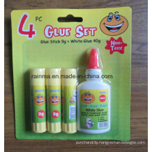 Glue Wtick 9g and White Glue 40g 4PCS Bliater Packing