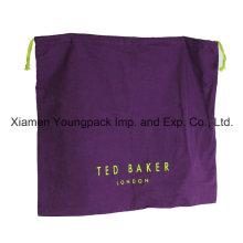 Bolso de polvo púrpura de encargo promocional de la franela del algodón