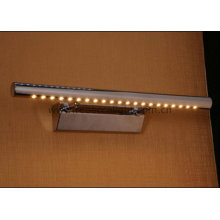 Современный светодиодный настенный светильник из нержавеющей стали для умывальника