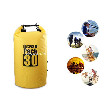 Custom Logo Outdoor Durable Waterproof PVC 30L Sport Dry Bag
