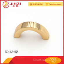 Arch shape light gold metal decoration for handbags