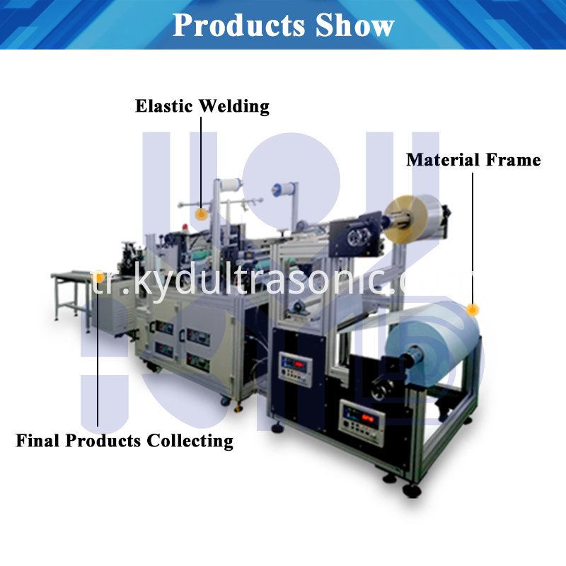 Double layer shoe cover machine structure
