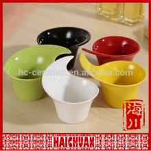 Ceramic color square bakeware snack bowl bread holder salad bowl cake bakeware