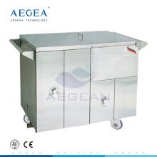 AG-SS035D repas plus chaud alimentaire médical en acier instrument hôpital alimentaire chariots