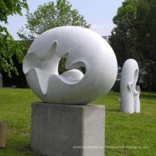 Mão de jardim ao ar livre esculpida abstrata escultura em pedra moderna de mármore para venda
