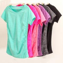 Mulheres Personalizadas T-Shirt de Fitness Esporte Desgaste Ginásio Yoga T-Shirts