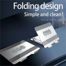 Support de bureau pour ordinateur portable en aluminium pliable à 180 degrés