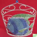 2014 große Festzug Krone, hohe Tier Tiaras zum Verkauf